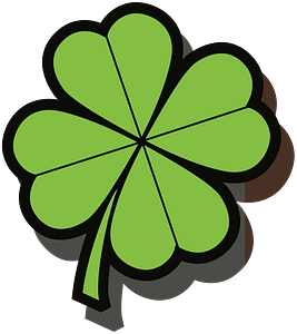 Four Leaf Clover with Shadow clipart
