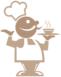 Two Toned Chef clipart