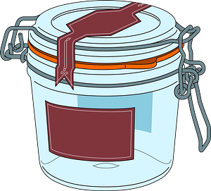 Glass Canister clipart