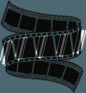 Film Strip - Black and White clipart