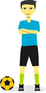 Soccer Captain with His Ball clipart