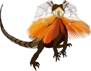 Frill-necked Lizard clipart