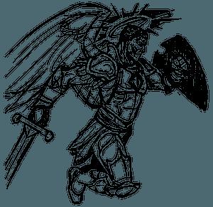 Angel of War Line Art clipart