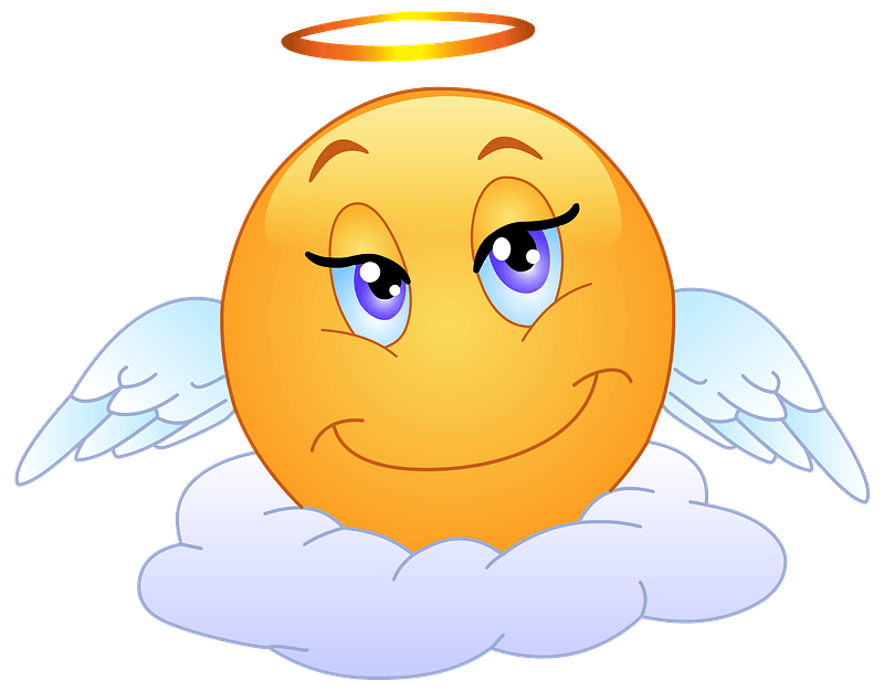 Angelic Smiley clipart
