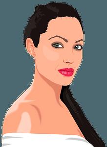 Angelina Jolie Portrait clipart