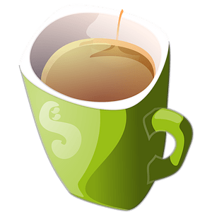 Green Mug of Tea clipart