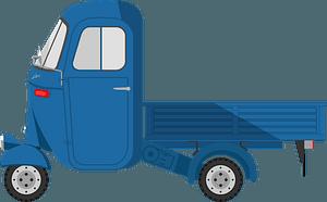 Blue Ape Car clipart