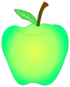 Glowing Green Apple clipart