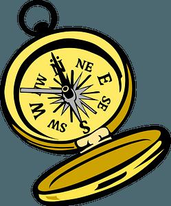 Golden compass clipart