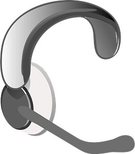 Headphones with microphone clipart