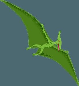 Flying pterosaur clipart