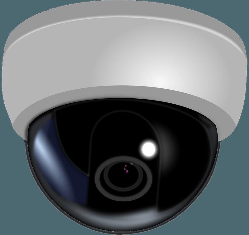 CCTV Dome Camera clipart