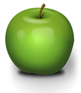 Realistic Green Apple clipart