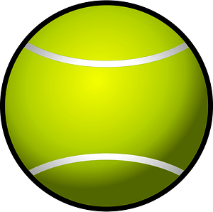 Tennis Ball Simple clipart