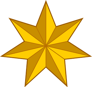 Seven Pointed Star clipart