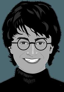 Daniel Radcliffe Portrait - Black and White clipart