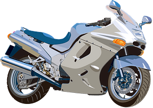 Detailed Motorcycle clipart