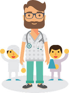 Doctor and Patients clipart
