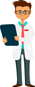 Doctor Holding Clipboard clipart