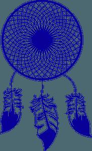 Blue Dream Catcher clipart