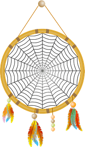 Dreamcatcher with Web clipart