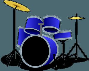 Blue Drum Set clipart