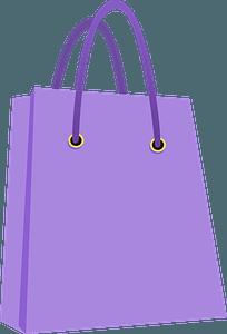 Purple Bag clipart