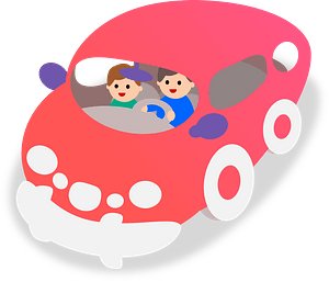 Red Bubble Car clipart