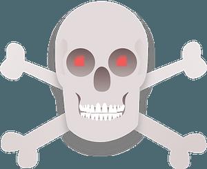 Skull and Cross bones clipart