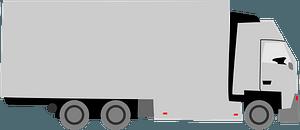 Grayscale Semi Truck clipart