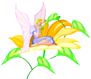 Fairy on a Flower clipart