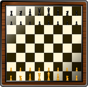 Fancy Chess Board and Pieces clipart