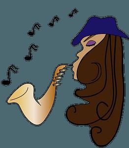 Female Jazz Musician clipart