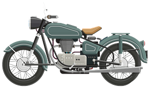 Flat Shaded Classic Motorcycle clipart