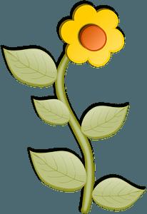 Sunflower on the Stem clipart