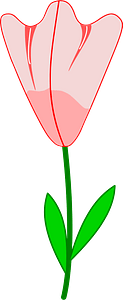 Pink Flower on the Stem clipart