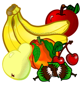 Full Color Fruits clipart