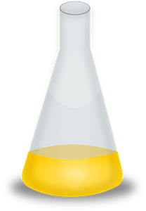 Conical Flask with Yellow Liquid clipart