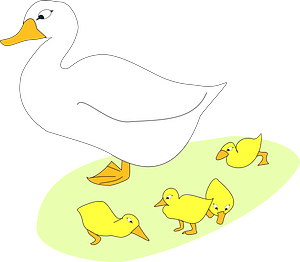 Goose and Goslings clipart