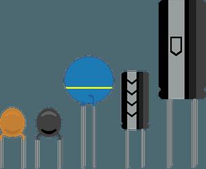 Capacitors clipart