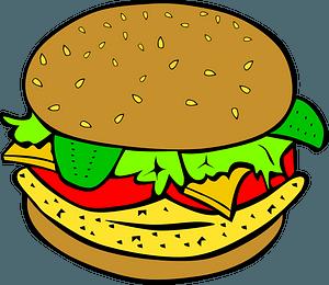 Fast Food, Lunch-Dinner, Chicken Sandwich clipart