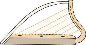 Harp clipart