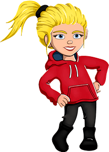 Girl Hands on Hips immagine clipart