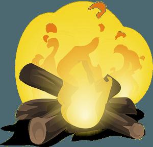 Glitch Simplified Fire clipart