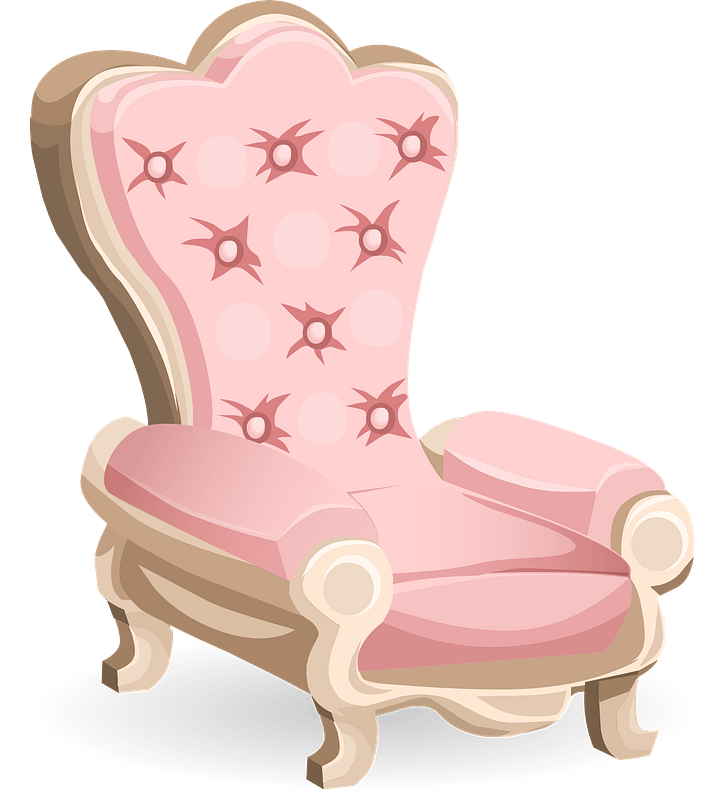 Glitch Simplified Pink Royal Chair clipart. Free download ...