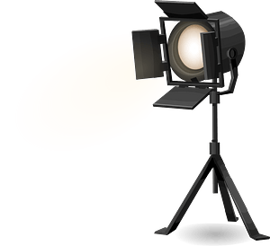 Glitch Simplified Stage Spotlight with Tripod clipart