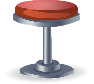 Glitch Simplified Stool clipart