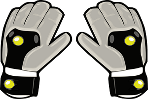Goalkeeper glove clipart
