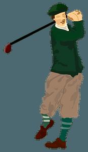 Golf Player clipart