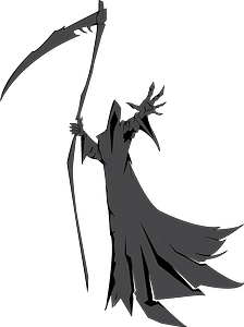 Grim Reaper Illustration clipart
